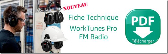 3M PELTOR - Casque Radio FM WorkTunes Pro
